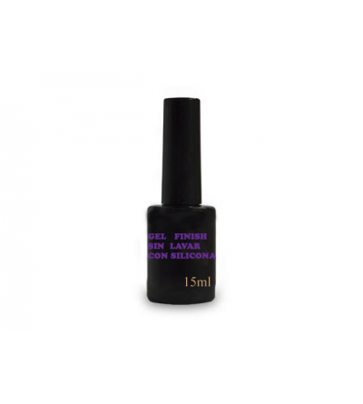 Gel  finish sin lavar  con  silicona 15ml
